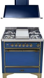 2-Piece Midnight Blue Kitchen Package with UMC90FDVGGBLY 36