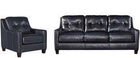 Regina Collection MI-5386SC-NAVY 2-Piece Living Room Set with Sofa and Chair in Navy