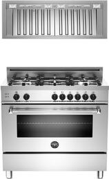 2-Piece Stainless Steel Kitchen Package with MAS365GASXELP 36