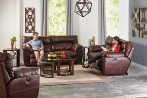Milan Collection 4341-1283-19/3083-19/1283-29SET 3 PC Living Room Set with Lay Flat Reclining Sofa + Loveseat + Recliner in Walnut Color