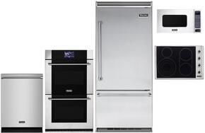 "5-Piece Stainless Steel Kitchen Package with VCBB5363ERSS 36"" Bottom Freezer Refrigerator, VECU5366BSB 36"" Electric Cooktop, MVDOE630SS 30"" Electric Double Wall Oven, VMOS201SS 24"" Microwave w. 30"" Trim Kit and FDW302WS 24"" D"