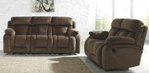 Landen Collection MI-3941872PC-CHOC 2 PC Living Room Set with Reclining Power Sofa + Reclining Power Loveseat in Chocolate Color