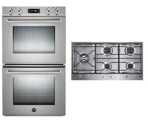 "Professional Series 2-Piece Stainless Steel Kitchen Package with FD30PROXT 30"" Double Electric Wall Oven and PM365S0X 36"" Gas Cooktop"