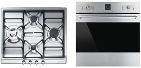 "2-Piece Kitchen Package With SR60GHU3 24"" Gas Cooktop and SF399XU 24"" Electric Single Wall Oven in Stainless Steel"