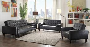 G843-SLC 3-Piece Living Room Set with Sofa, Loveseat and Chair in Black