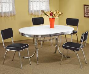2065SETBLACK Cleveland 5 Pc Dining Set (Table and 4 Chairs) in Black