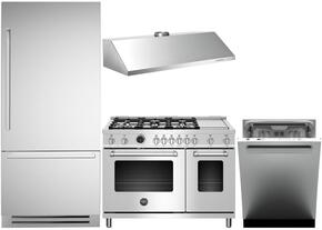 4-Piece Stainless Steel Kitchen Package with REF36PIXR 36