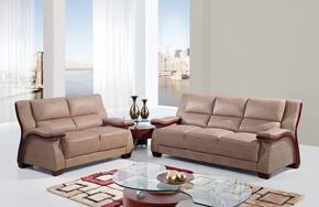 UA1411-SLC Mainstreet Bonded Leather 3 Piece Living Room Set in Beige, Sofa + Loveseat + Chair