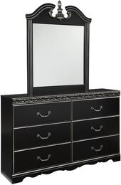 Navoni B3013136 2 PC Bedroom Set with Dresser + Mirror in Black Finish