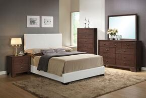 14387EKDMCN Ireland Eastern King Size Platform Bed + Dresser + Mirror + Chest + Nightstand