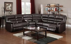 Neon Collection 508403SET 3 PC Sectional Sofa Set with Sofa + Loveseat + Wedge in Dark Brown Color