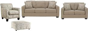 Alenya Collection 16600SLCO 4-Piece Living Room Set with Sofa, Loveseat, Accent Chair and Ottoman in Quartz