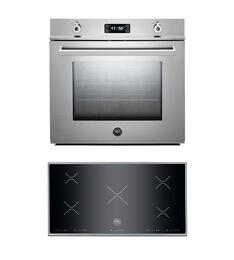 "Professional F30PROXT 30"" Single Electric Wall Oven 2 Piece Stainless Steel Kitchen Package with P365IX 36"" Electric Cooktop"