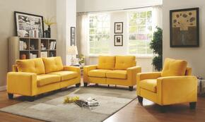 Newbury Collection G470ASET 3 PC Living Room Set with Modular Sofa + Loveseat + Armchair in Yellow Color