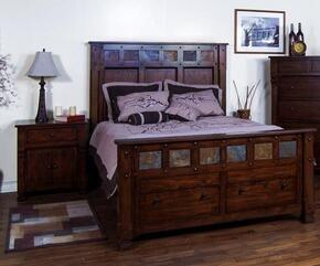 Santa Fe Collection 2322DCKBBEDROOMSET 2-Piece Bedroom Set with King Bed and Nightstand in Dark Chocolate Finish