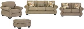 Karlie Collection MI-8155SLCO-BARL 4-Piece Living Room Set with Sofa, Loveseat, Living Room Chair and Ottoman in Barley