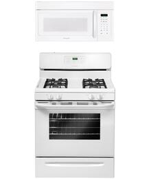"2-Piece White Kitchen Package with FFGF3023LW 30"" Freestanding Gas Range and FFMV162LW 30"" Over-the-Range Microwave"