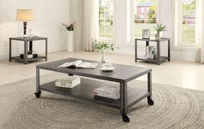 Sarina 80370CE 3 PC Living Room Table Set with Coffee Table + 2 End Tables in Antique Black Finish