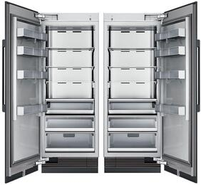 "66"" Panel Ready Side-by-Side Column Refrigerator Set with DRR30980RAP 30"" Right Hinge Refrigerator, and DRZ36980LAP 36"" Left Hinge Freezer"