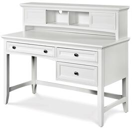 Y1875-3031 Kenley Next Generation Youth Three Drawer Desk with Hutch in White Finish