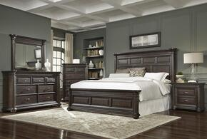Grand Manor 8920505140BDMCN 5 PC Bedroom Set with Queen Size Bed + Dresser + Mirror + Chest + Nightstand in Tobacco Finish