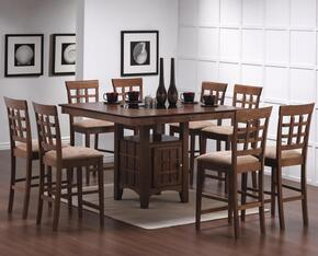 100438SET19 Mix & Match 5 PC Counter Height Dining Set (Table, 4 Chairs) by Coaster Co.