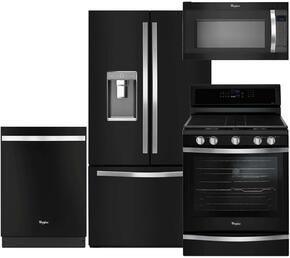 4-Piece Black Ice Kitchen Package with WRF992FIFE 36