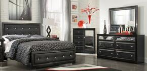 Alamadyre Queen Bedroom Set with Panel Bed, Dresser, Mirror and Chest in Black