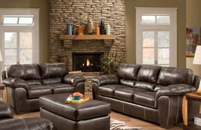 1854031870BCSLO Ace Sofa + Loveseat + Ottoman with 16 Gauge Border Wire, Hi-Density Foam Cores, Sinuous Springs, Sewn Pillow Cushions and Solid Kiln Dried Hardwoods in Blackjack Cocoa