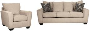 Wixon Collection 57003SC 2-Piece Living Room Set with Sofa and Living Room Chair in Putty