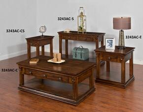 3243AC-CKIT1 Savannah Coffee Table with Sofa/ Console Table, Chair Side Table and End Table in Antique Charcoal Finish