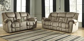 Jodoca 36601872PC 2 PC Living Room Set with Reclining Power Sofa + Reclining Power Loveseat in Driftwood Color