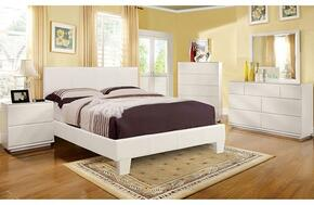 Winn Park Collection CM7008WHTCKDMCN 5-Piece Bedroom Set with California King Bed, Dresser, Mirror, Chest, and Nightstand in White Color