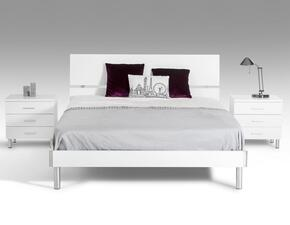 VGDEB1001-WHTTN  Modrest Bravo Twin Size Bed + 2 Nightstands in White Finish