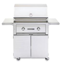 "Sedona 2-Piece Stainless Steel Outdoor Grill Set with L500PSNG Natural Gas Grill and L500CART 30"" Freestanding Cart"