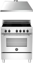 "2-Piece Stainless Steel Kitchen Package with MAS304INMXE 30"" Freestanding Induction Range and KU30PRO1XV 30"" 400 CFM Range Hood"