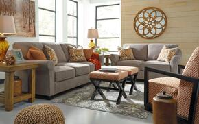 Barbara Collection MI-4416SLAC2O-SLAT 5-Piece Living Room Set with Sofa, Loveseat, Accent Chair and 2 Ottomans in Slate
