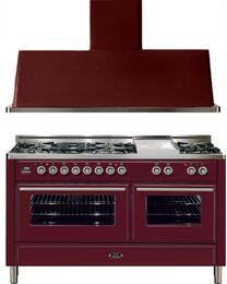 2-Piece Burgundy Kitchen Package with UMT150FDMPRB 60