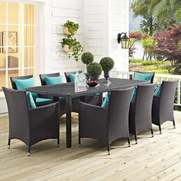 Convene EEI1920EXP8AC 9 PC Patio Set with 82