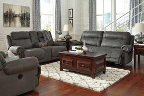 Zachery Collection MI-2240NSLR-GRY 3-Piece Living Room Set with 3-Seat Reclining Sofa, Double Reclining Loveseat and Zero Wall Recliner in Grey