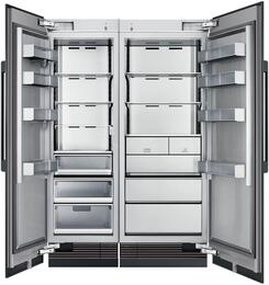 "54"" Panel Ready Side-by-Side Column Refrigerator Set with DRZ30980RAP 30"" Right Hinge Freezer, DRR24980LAP 24"" Left Hinge Refrigerator, and Installation Kit"