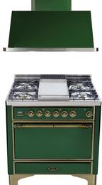 2-Piece Emerald Green Kitchen Package with UMC90FDMPVSY 36