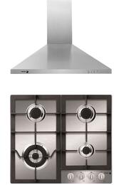 "2 Piece Stainless Steel Kitchen Package  with FA-640STX 24"" Gas Cooktop and 60CFP-24X 24"" Range Hood"