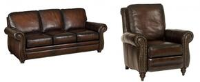 SS186 2-Piece Living Room Set with Sedona Chateau GS Sofa and Recliner in Dark Brown
