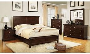 Spruce Collection CM7113CHCKBDMCN 5-Piece Bedroom Set with California King Bed, Dresser, Mirror, Chest, and Nightstand in Brown Cherry Finish