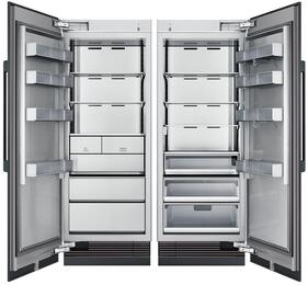 "60"" Panel Ready Side-by-Side Column Refrigerator Set with DRR30980RAP 30"" Right Hinge Refrigerator and DRZ30980LAP 30"" Left Hinge Freezer"