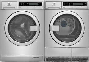 "Stainless Steel Front Load Compact Laundry Pair with EFLS210TIS 24"" Washer and EFDE210TIS 24"" Electric Dryer"