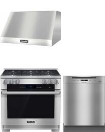 3-Piece Stainless Steel Kitchen Package with HR1934DF 36