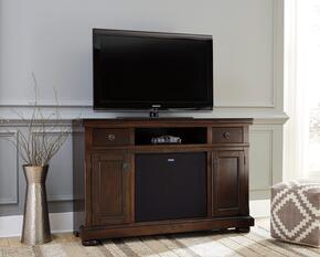 Audrey Collection EN-160-90A30 2-Piece Set with TV Stand and Large Integrated Audio Unit in Rustic Brown