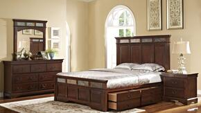 00455210220237238DMN 5 Piece Bedroom Set with California King Madera Storage Bed, Dresser, Mirror and Nightstand, in Chestnut